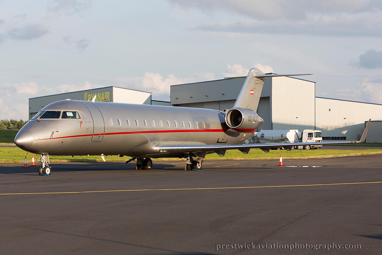 OE-ILI. Canadair CL-600-2B19 Challenger 850. VistaJet. Prestwick. 010814