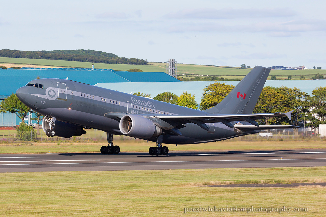 15002. Airbus CC-150 Polaris. Canadian Air Force. Prestwick. 210714.