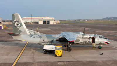 LZ-ABR. Antonov AN-26B. Air Bright. Prestwick. 310314.