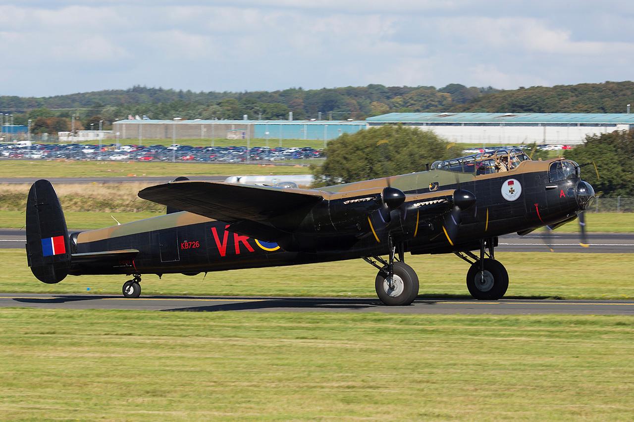 KB726 Avro 683. Lancaster B10. Canadian Warplane Heritage. Prestwick. 070914.