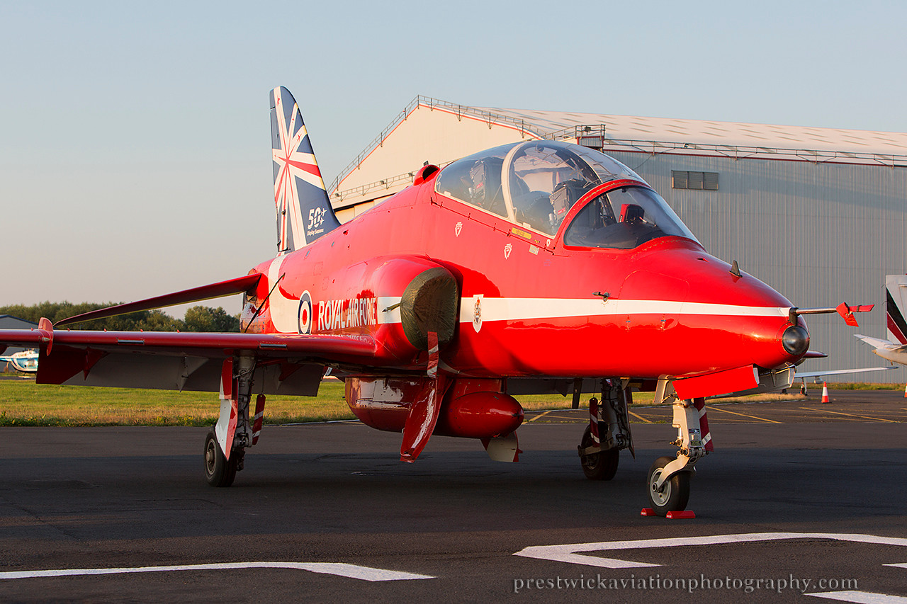 XX325. British Aerospace Hawk T1. RAF. Prestwick. 240714.