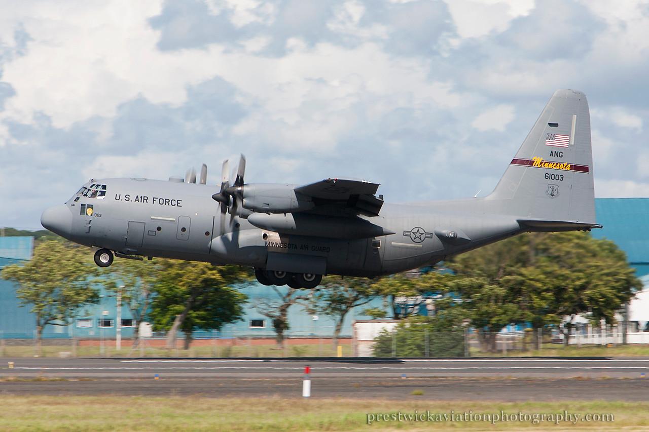 96-1003. Lockheed C-130H Hercules. USAF. Prestwick. 050714.
