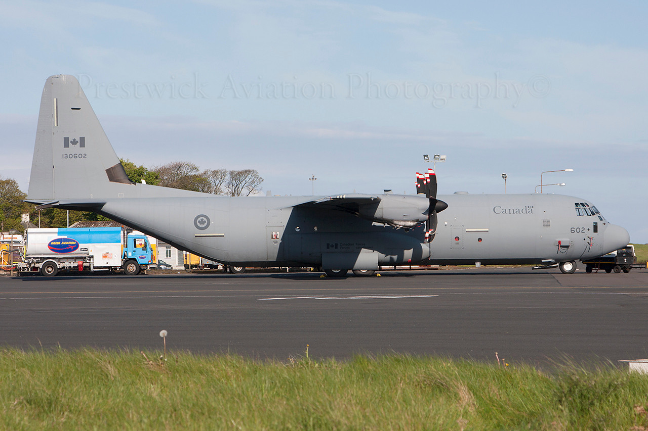130602. Lockheed Martin CC-130J Hercules. Canadian Air Force. Prestwick. 020514.