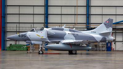 C-FGZE. McDonell Douglas A-4N Skyhawk. Discovery Air. Prestwick. 091114.