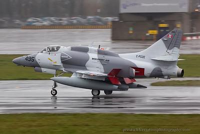 C-FGZE. McDonnell Douglas A-4N Skyhawk. Discovery Air. Prestwick. 081114.