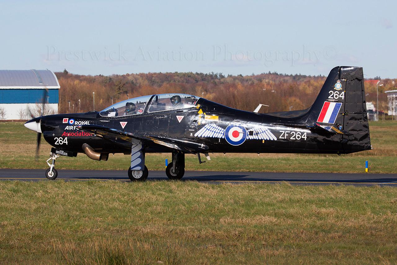 ZF264. Shorts S-312 Tucano T1. RAF. Prestwick. 260314.
