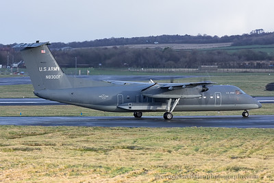 N8300F. De Havilland DHC-8-311A Dash 8. US Army. Prestwick. 121214.