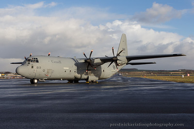 130613. Lockheed Martin CC-130J Hercules. Canadian Armed Forces. Prestwick. 111214.