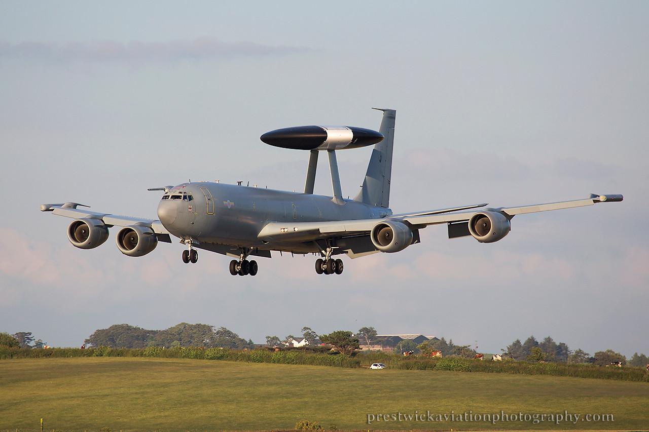 ZH102. Boeing E-3D Sentry AEW1. RAF. Prestwick. 090714.
