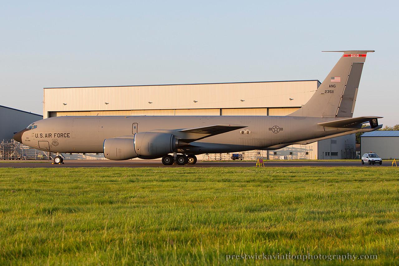 62-5311. Boeing KC-135R Stratotanker. USAF. Prestwick. 240714.