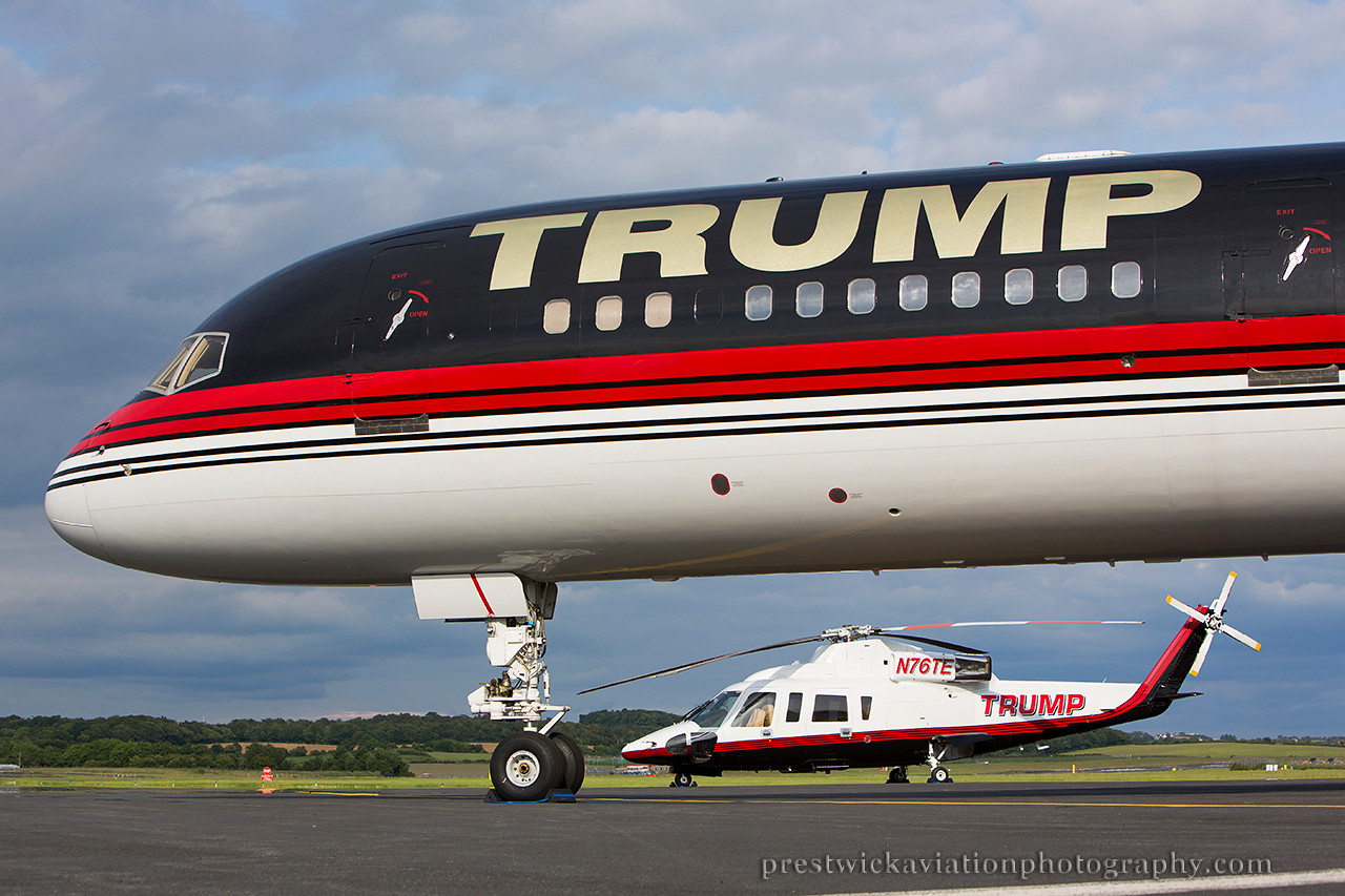 N757AF. Boeing 757-2J4. Trump Corp. Prestwick. 300614.