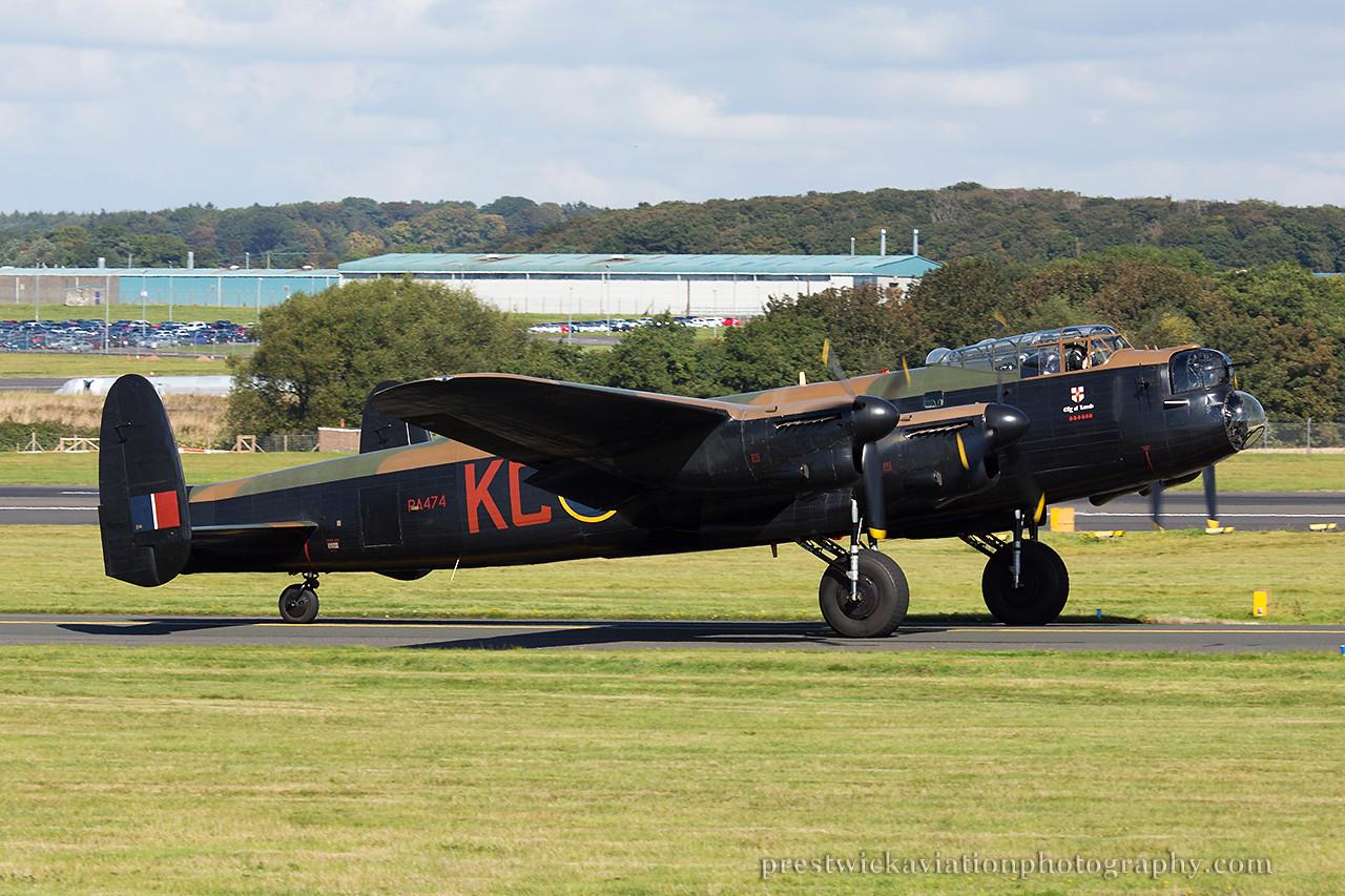 PA474. Avro 683 Lancaster B1. RAF. Prestwick. 070914.