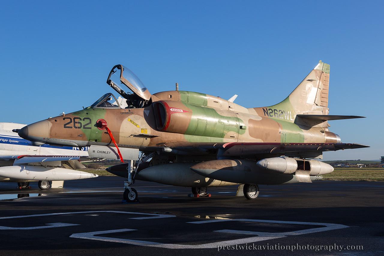 N262WL. McDonnell Douglas A-4N Skyhawk II. Bae Systems. Prestwick. 021214.