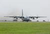 92-3023. Lockheed C-130H Hercules. USAF. Prestwick. 260717.