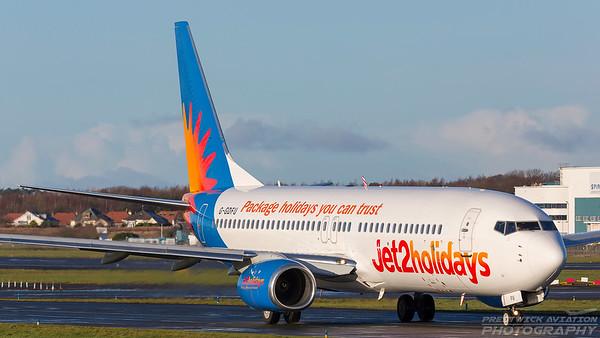 G-GDFU. Boeing 737-8K2. Jet2. Prestwick. 271217.