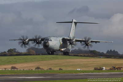 ZM413. Airbus A400M Atlas C1. RAF. Prestwick. 251017.