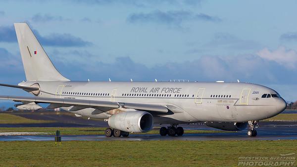 ZZ334. Airbus A330 Voyager KC2. RAF. Prestwick. 271217.