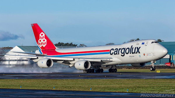LX-VCK. Boeing 747-8R7F/SCD. Cargolux. Prestwick. 271217.