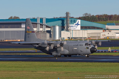 96-1006. Lockheed Martin C-130H Hercules. USAF. Prestwick. 051117.