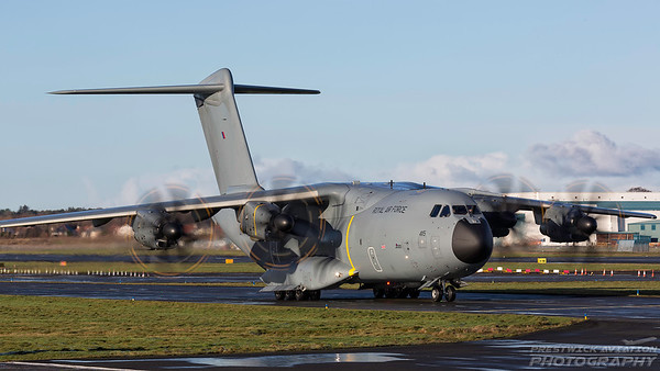 ZM415. Airbus A400M Atlas C1. RAF. Prestwick. 271217.