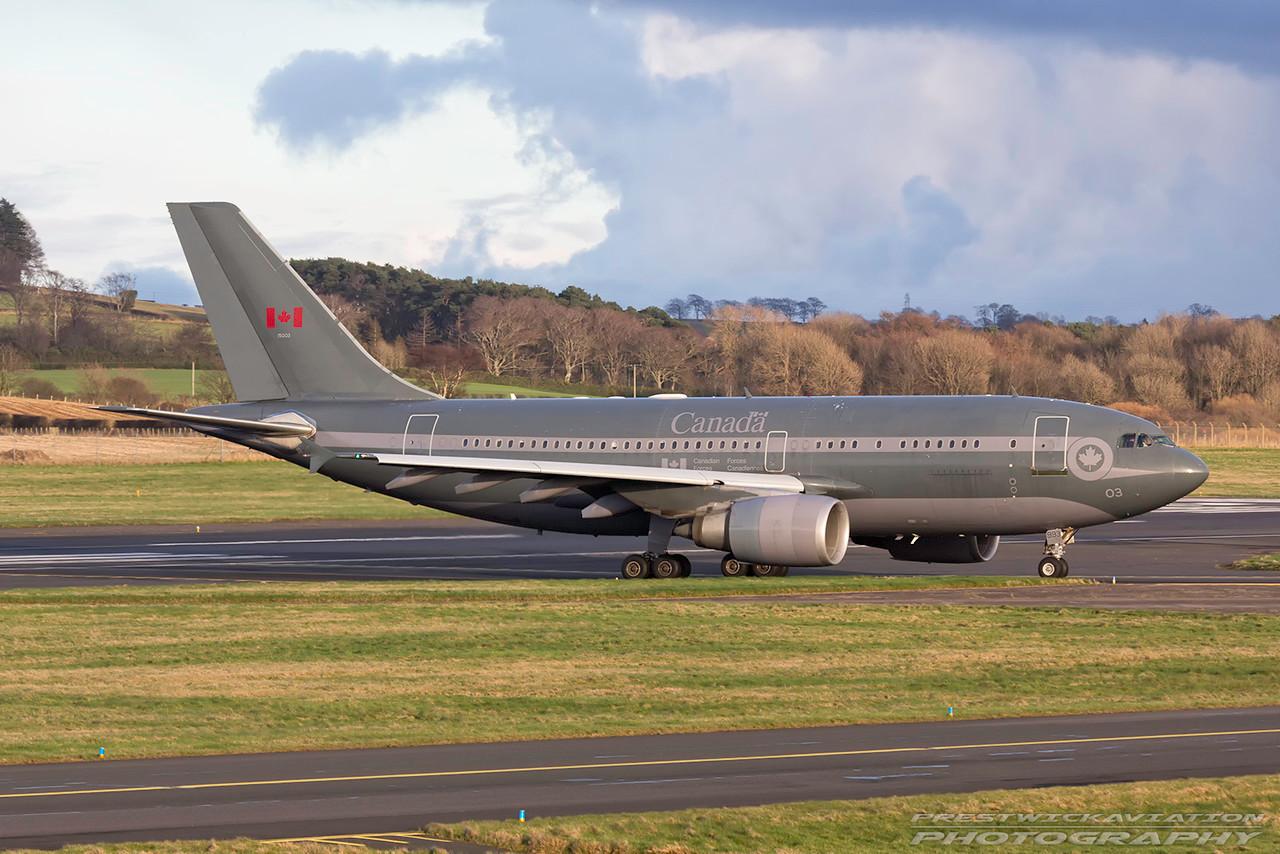 15003. Airbus CC-150 Polaris. Canadian Air Force. Prestwick. 010317.