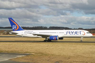 G-FJEA. Boeing 757-23A. FlyJet. Prestwick. 120305.