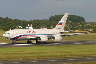 RA-96016. Ilyushin Il-96-300PU. Russian State Transport Company. Prestwick. 080705.