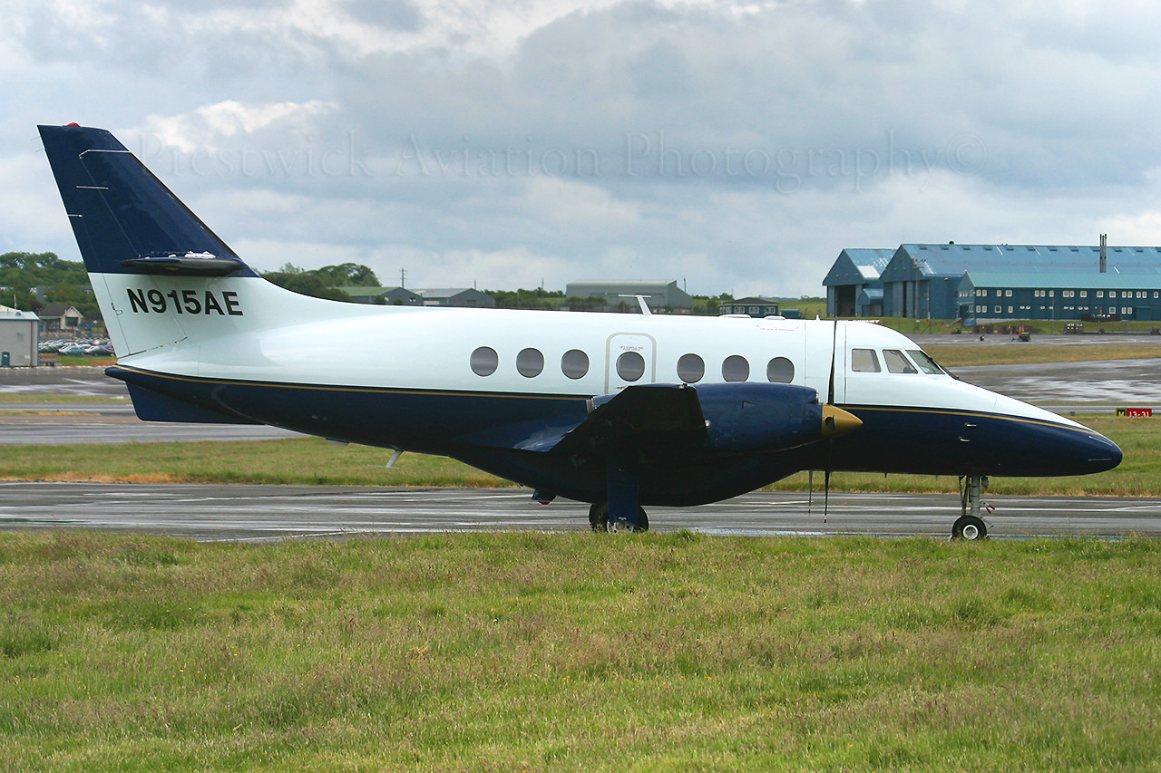 N915AE.British Aerospace Jetstream Super 31. Private. Prestwick 180606.