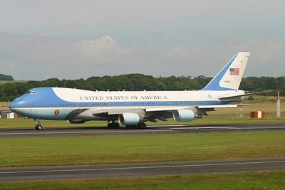 92-8000. Boeing VC-25A. USAF. Prestwick. 080705.