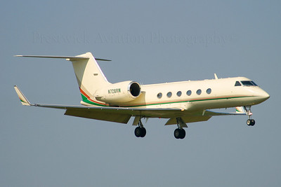 N726RW. Gulfstream Aerospace Gulfstream IV. Private. Prestwick. 240405.