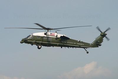 163260. Sikorsky VH-60N White Hawk. US Marines. Prestwick. 080705.
