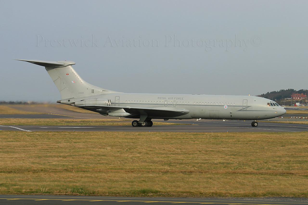 XV109. Vickers VC10 C1K. RAF. Prestwick. 200306.