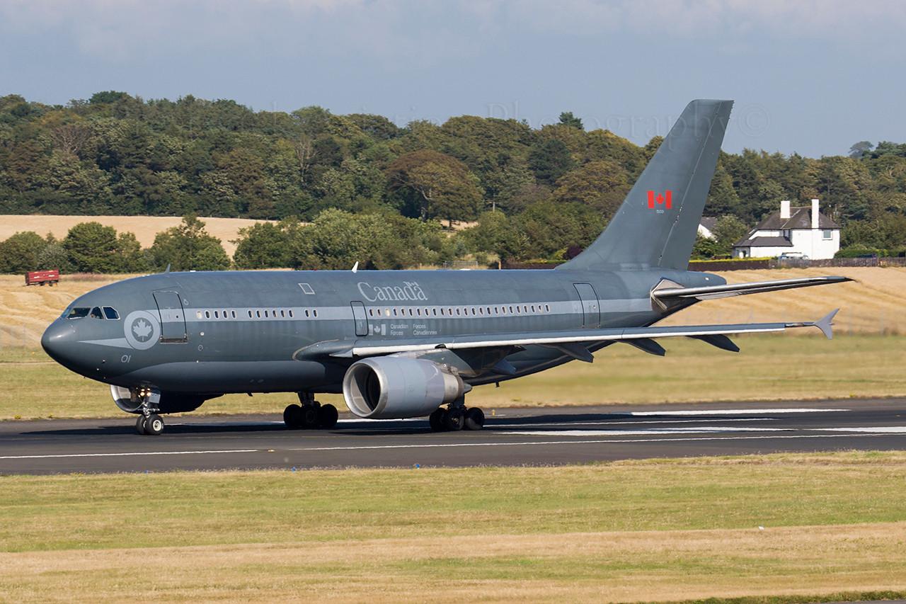 15001. Airbus CC-150 Polaris. Canadian Air Force. Prestwick. 160806.