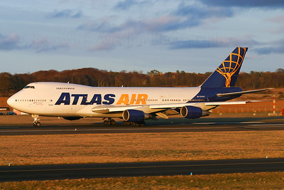 N528MC. Boeing 747-2D7B(SF). Atlas Air. Prestwick. 130305.  Operated on behalf of British Airways World Cargo.