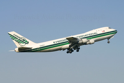 N480EV. Boeing 747-121(A/SF). Evergreen International. Prestwick. 240405.