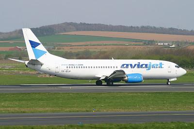 TF-ELP. Boeing 737-429. AviaJet. Prestwick. 220405.
