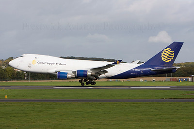 G-GSSA. Boeing 747-47UF SCD. Global Supply Systems. Prestwick. 120208.
