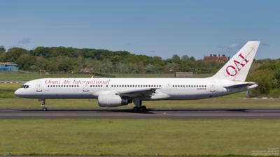 N369AX. Boeing 757-28A. Omni Air International. Prestwick. 210507.