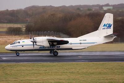 UR-DWD. Antonov An-26B. Aero Charter Airlines. Prestwick. 211208.