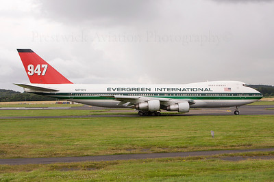 N470EV. Boeing 747-273C. Evergreen International. Prestwick. 010808.  Scrapped at Marana in 2012.
