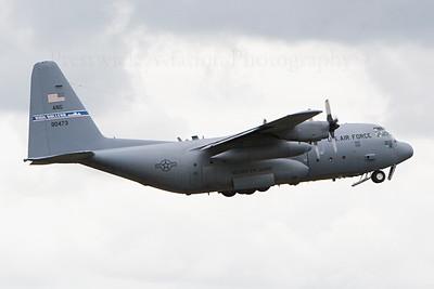 79-0743. Lockheed C-130H Hercules. USAF. Prestwick. 130707.