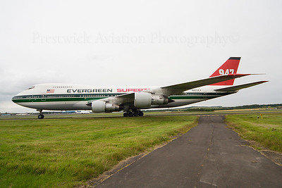 N470EV. Boeing 747-273C. Evergreen International. Prestwick. 130707.