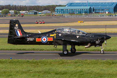 ZF137. Short S-312 Tucano T1. RAF. Prestwick. 150507.