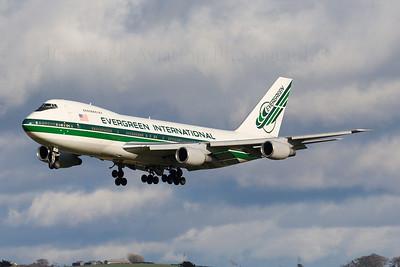 N487EV. Boeing 747-212B(SF). Evergreen International. Prestwick. 190307.