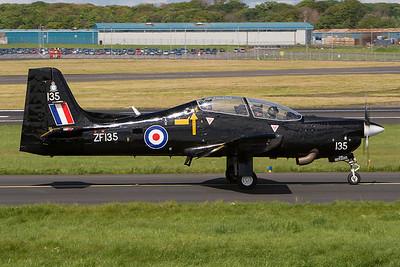 ZF135. Short S-312 Tucano T1. RAF. Prestwick. 150507.