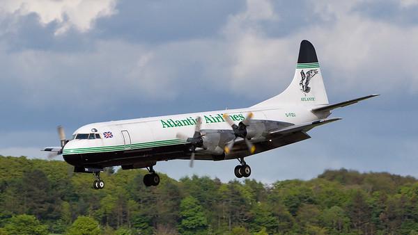 G-FIZU. Lockheed L-188C(F) Electra. Atlantic Airways. Prestwick. 090507.