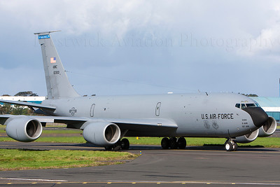 61-0300. Boeing KC-135R Stratotanker. USAF. Prestwick. 290908.
