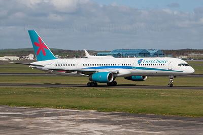 G-OOBD. Boeing 757-28A. First Choice Airways. Prestwick. 160407.