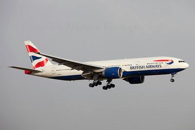 G-RAES. Boeing 777-236 ER. British Airways. Prestwick. 020209.
