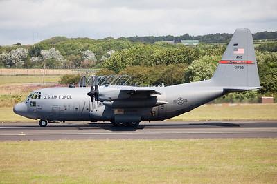 90-1793. Lockheed C-130H Hercules. USAF. Prestwick. 190709.